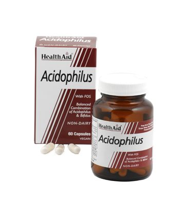 HEALTH AID ACIDOPHOLUS 100million 60vegcaps