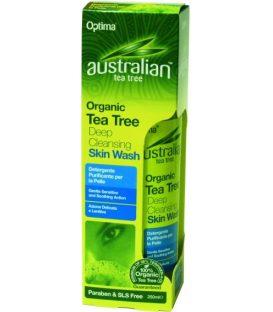 AUSTRALIAN  TEA TREE DEEP CLEANSING SKIN WASH 250ml.
