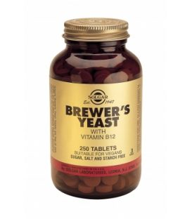 SOLGAR BREWER'S YEAST  WITH VITAMIN B-12 250tbs