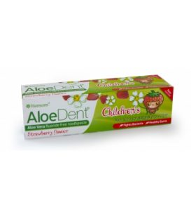OPTIMA ALOE DENT  CHILDREN'S STRAWBERRY  WITH FLUORIDE TOOTHPAST