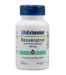 LIFE EXTENSION RESVERATROL with Pterostilbene 100mg 60 caps
