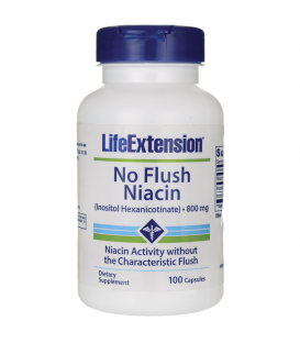 LIFE EXTENSION NO FLUSH NIACIN 800mg 100caps