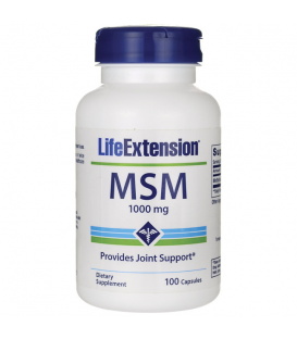 LIFE EXTENSION MSM(methylsulfonylmethane)1000mg100caps