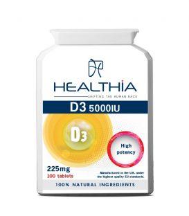 HEALTHIA D3 5000IU 100TBS