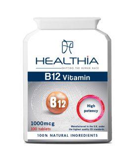 HEALTHIA B12 1000mcg 100tabs