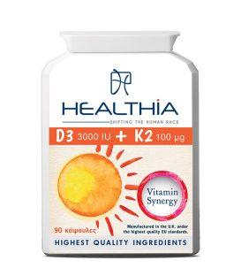 HEALTHIA D3 3000iu Κ2 100mcg