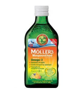 MOLLER'S  Μουρουνέλαιο Ομέγα 3  tutti-frutti  250ml