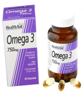 HEALTH AID OMEGA 3 750mg 30caps.