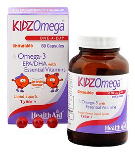 HEALTH AID KIDZ OMEGA CHEWABLE 60caps