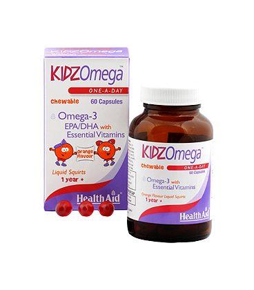 HEALTH AID KIDZ OMEGA CHEWABLE 60caps