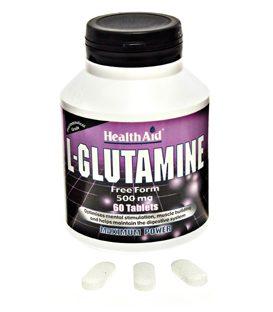 HEALTH AID L-GLUTAMINE  60tabs